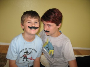 We found these mustaches while going through old stuff.