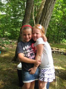 My niece, Allene, with her friend Paige - Allene's 6th birthday party