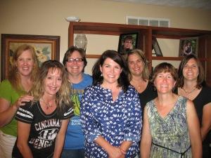Sheri, Tara, Margaret/Maggie, Bridget, Betsy, me, Becky
