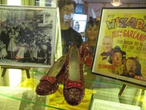 One of five pairs of The Wizard of Oz ruby slippers