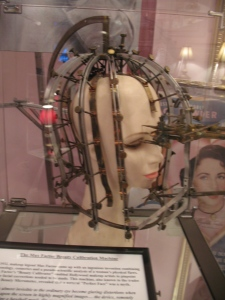 Max Factor created this weird contraption to measure actresses imperfections so he knew how to apply their makeup.