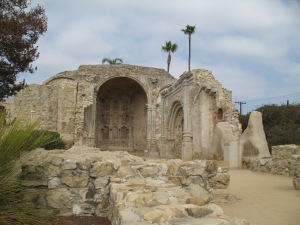 This stone church at the mission collapsed during Mass 200 years ago as the result of an earthquake.  Forty-three people died in the church.