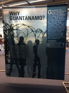The library has a Gitmo display that shows the history of the base as well as the research and opinions of the numerous college students around the country who prepared different segments of the exhibit.