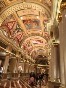 The Venetian lobby - The Palazzo and Venetian are connected but have separate lobbies.
