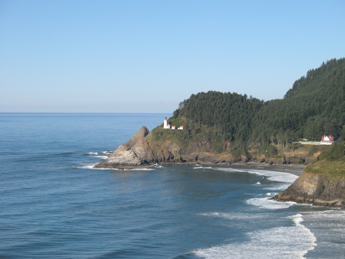 Heceta Head Lighthouse from a distance