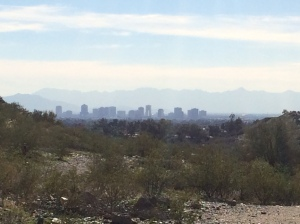 View of downtown Phoenix from Dreamy Draw Recreation Area
