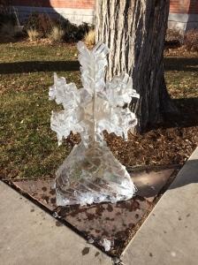 random ice sculpture in downtown Colorado Springs