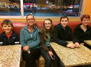 Our friends and former Colorado Springs neighbors, Crystal, Calissa, & Clayton, met us for dinner.