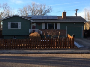 Our former Colorado Springs house...it made me sad that we couldn't go in.  The enormity of not owning a house, car, or furniture really hit me.