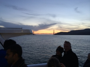 Golden Gate Bridge - on the ferry ride from Sausalito back to San Francisco today