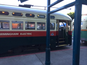 The streetcars here are very old but in excellent condition.  When I looked up their history online, it looks like the cars were built in different decades as much as 100 years ago but have been restored over the years at great expense.
