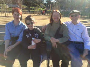 At Golden Gate Park with Prisc and Damon