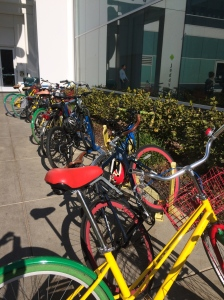 At Google for employees to ride around campus