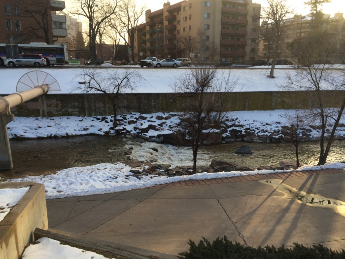 "Cherry Creek - Laurel called this section ""Denver's version of Niagara Falls"""
