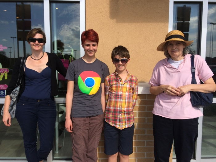Mary, Laurel, Charlie, and Nancy who we visited in Palm Bay Tuesday