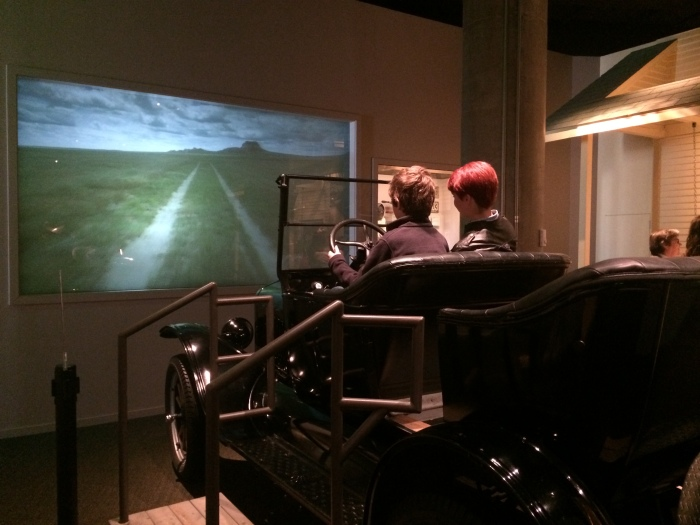 At History Colorado, Charlie and Laurel went joyriding in a Model-T through a farm field on the Eastern Plains.