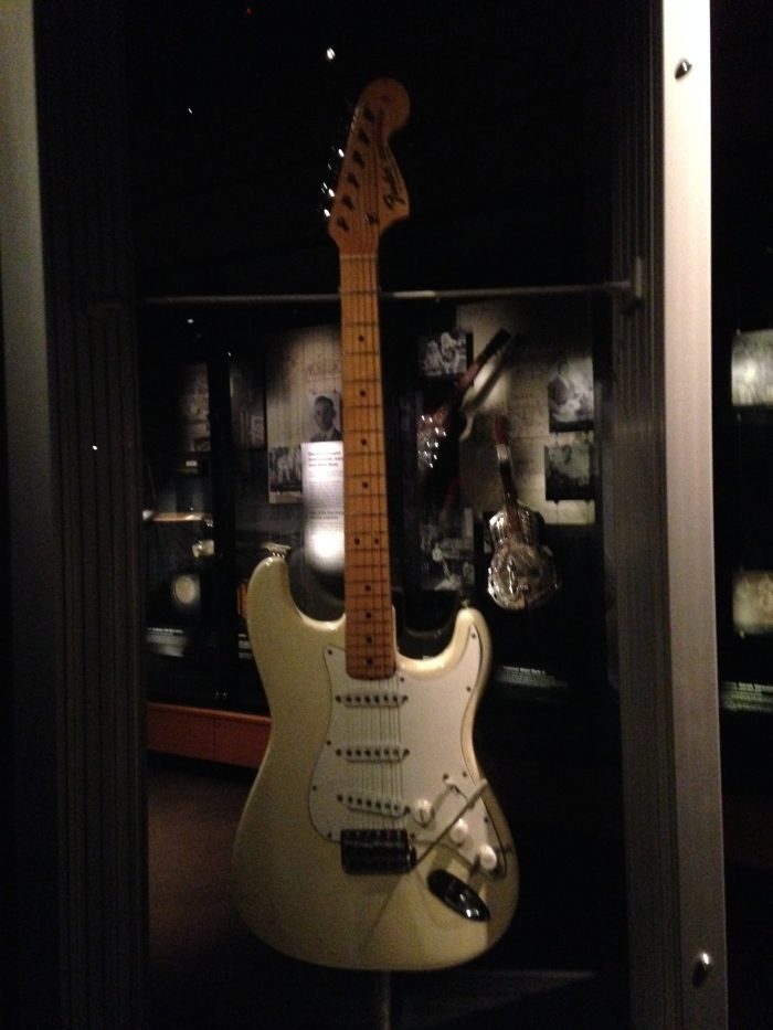 The guitar that Jimi Hendrix played at Woodstock