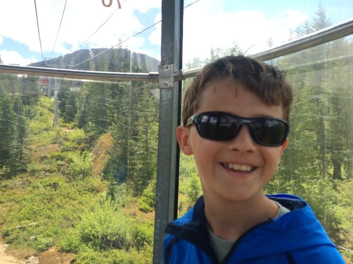 Thursday on the gondola up Whistler Mountain to then get on the Peak2Peak Gondola to Blackcomb Mountain.  After a look around Blackcomb Mountain we took the Peak2Peak back to Whistler Mountain and then another gondola back down to the village.
