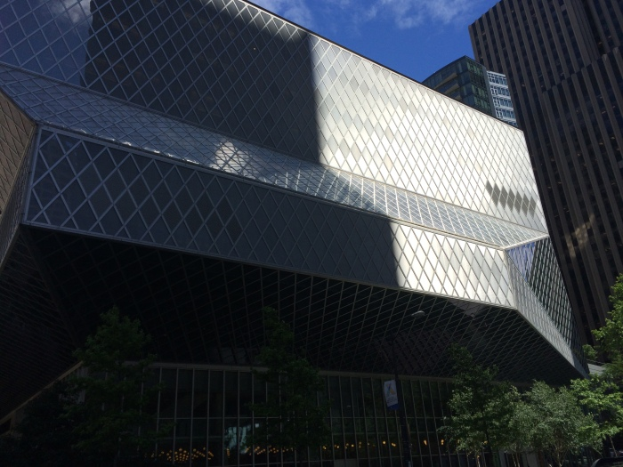 The downtown Seattle library