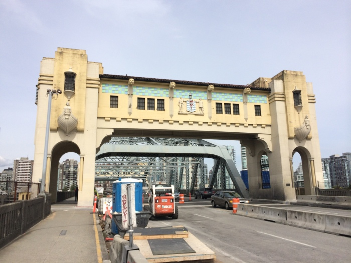 The Burrard Street Bridge that we walk on to get downtown.