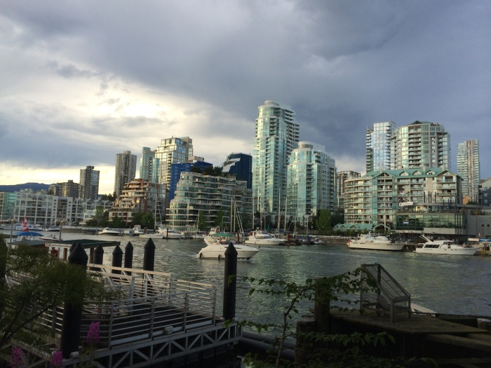 View from our bench on Granville Island