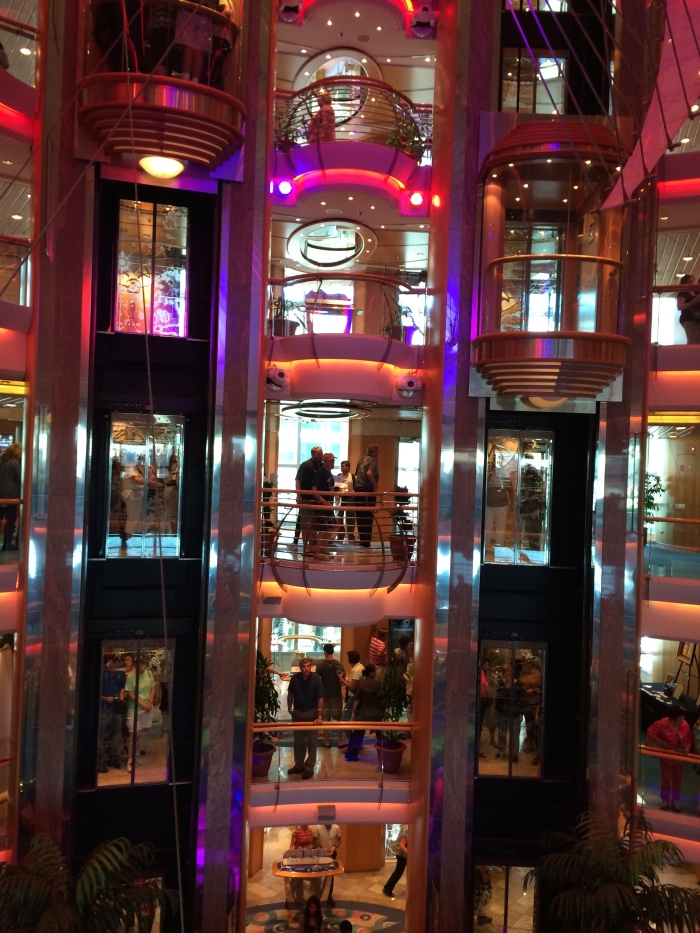 The pretty and newly remodeled atrium of Radiance of the Seas
