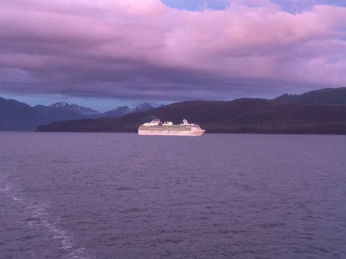 We passed and were passed by other cruise ships throughout our journey since they all have about the same itinerary.