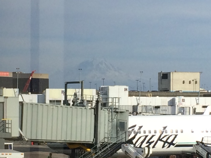 Mt. Rainier as seen from the Seattle airport
