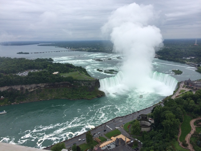 A view from Skylon Tower in Niagara Falls