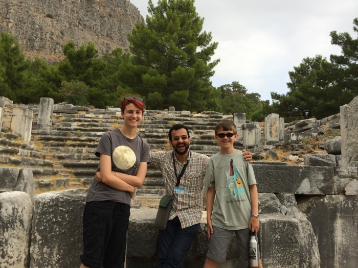 Laurel & Charlie with Tuğrul at Priene