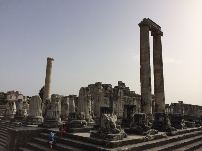 We walked all around and inside the Temple of Apollo and saw the small area that served as the residence for the oracles, the women who predicted the future and who were partly inspired by the opium vapors they inhaled as they slept.