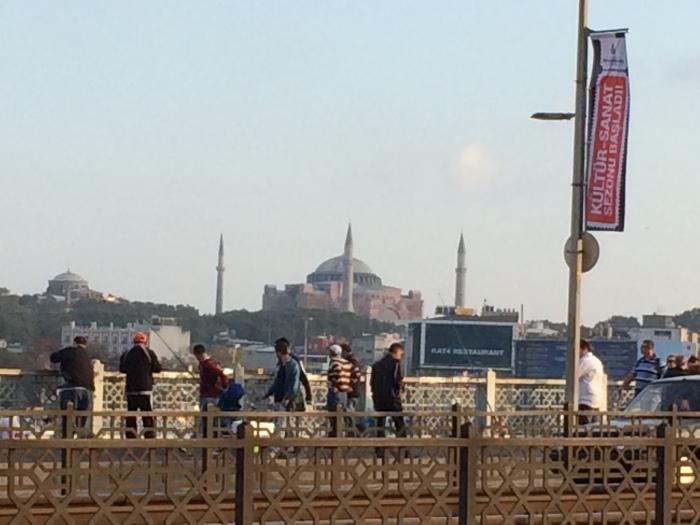 Hagia Sophia as seen from Galata Bridge