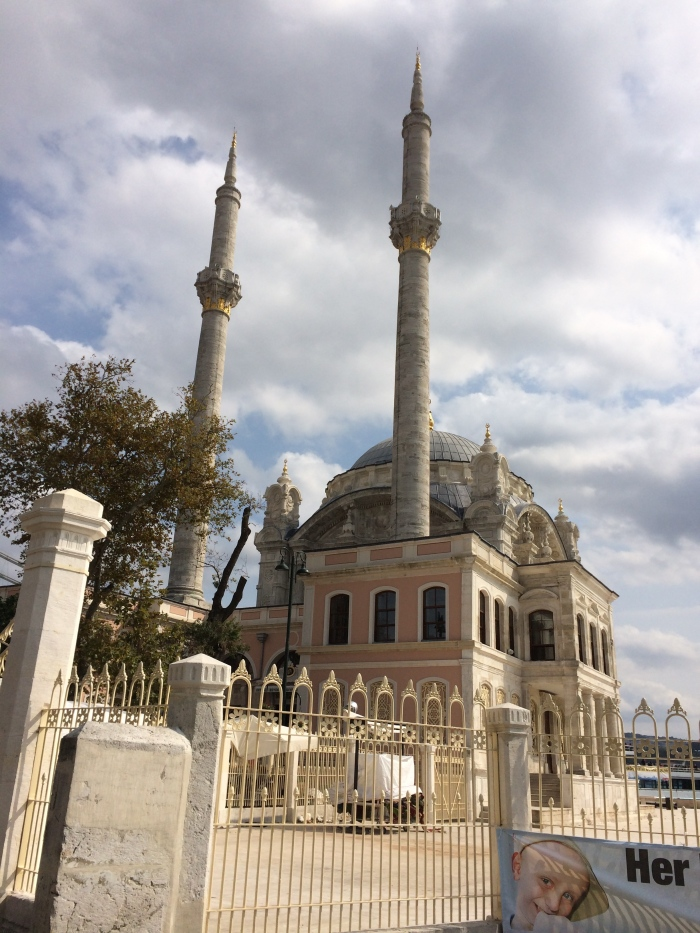 The Ortaköy Mosque, next to the Bosphorus Suspension Bridge - We would've liked to have crossed the bridge on foot but that is no longer allowed.