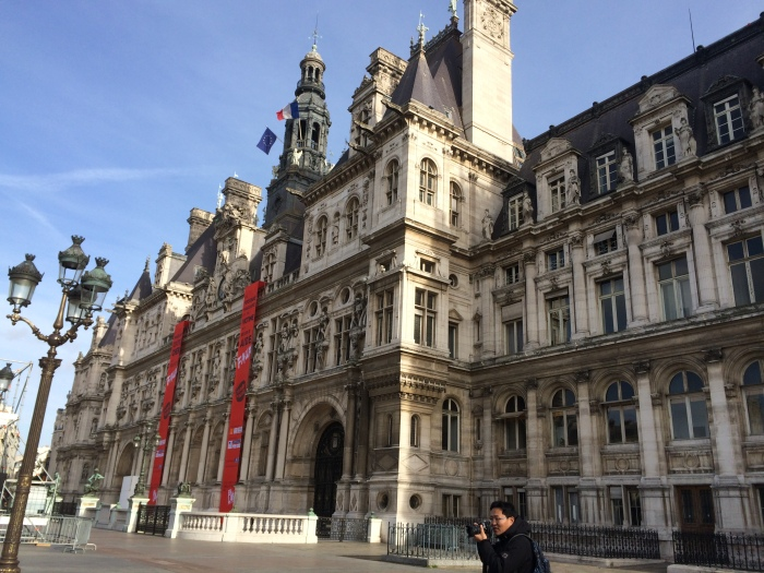 "Parisian City Hall/Hotel de Ville: We learned from Ludovic on our Monday tour that each arrondissement has its own mayor and city hall, and then the city as a whole has a mayor and city hall.  The current mayor, Anne Hidalgo, was born in Spain (as ""Ana"") and is the first female mayor of Paris."