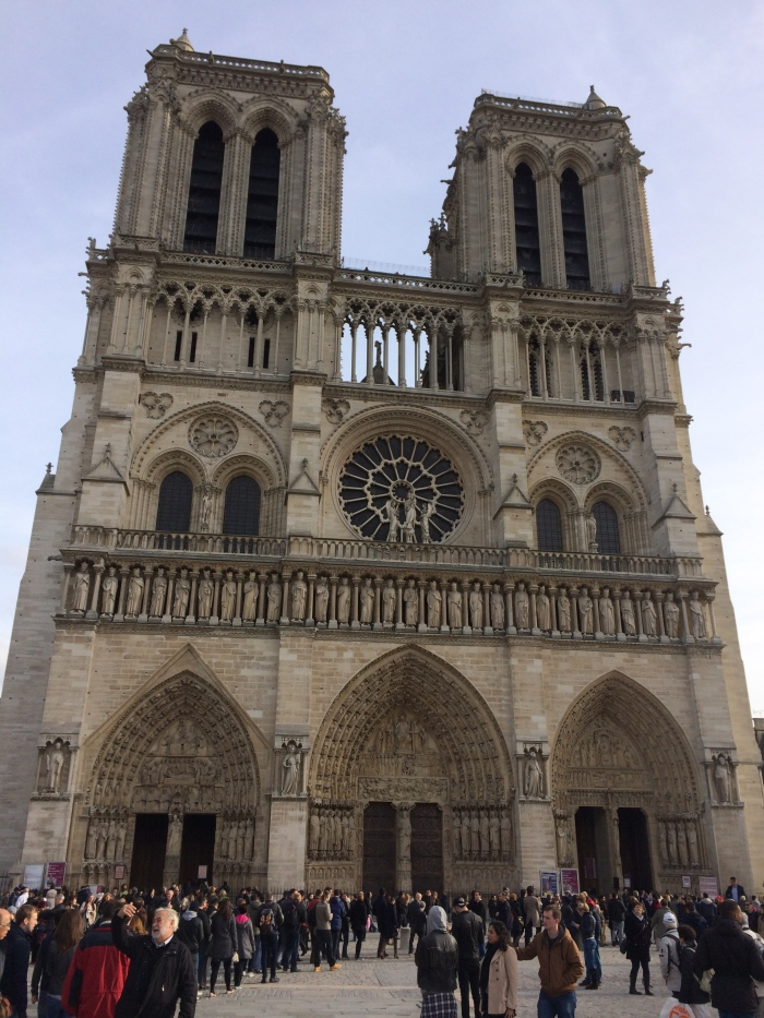 Notre Dame - we'll go back another day when Laurel is with us and when the line is (hopefully) not so long to get in.