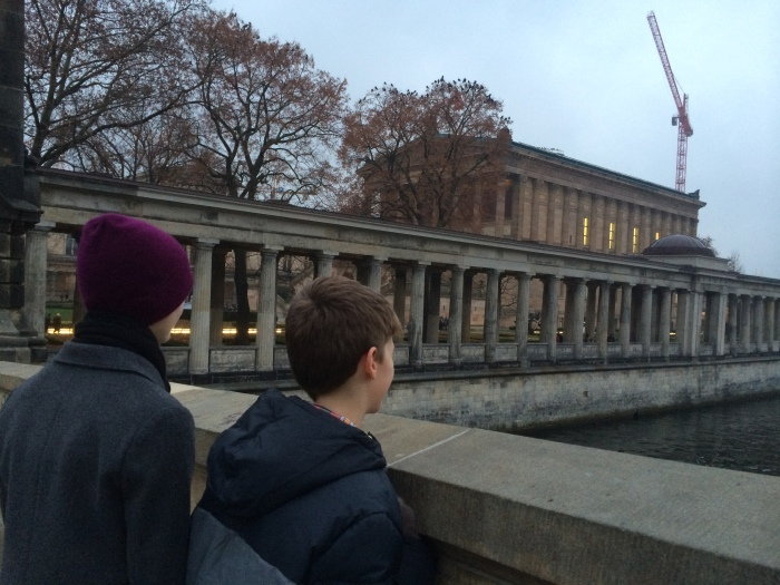 Looking out at the Spree River after leaving the Pergamon Museum