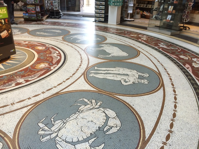 The National Museum of Ireland building is an exhibit in itself.  The large, open entryway features the zodiac in tile mosaic on the floor.