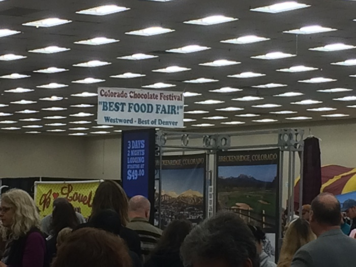 A chocolate festival at the Denver Merchandise Mart that the kids and I attended with John